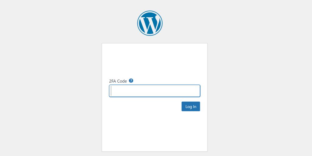 WordPress 2FA access